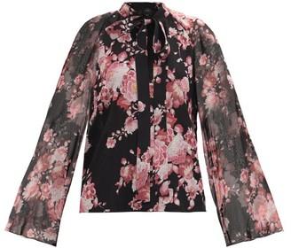 Giambattista Valli Floral-printed Silk-georgette Blouse - Black Multi