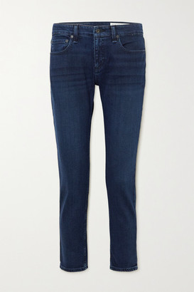 Rag & Bone Dre Cropped Low-rise Slim-leg Jeans - Dark denim