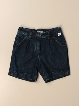 Il Gufo Jeans Shorts With Logo