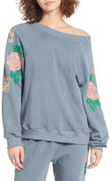 Wildfox Couture Women's Sommers Sweater - Indigo Rose Embroidered Pullover