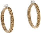 The Sak Etched Hoop Earrings