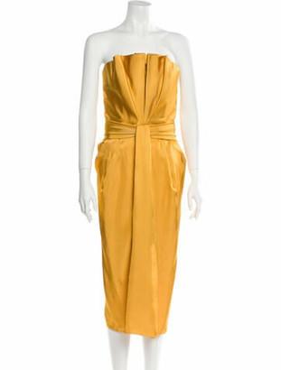 Brandon Maxwell 2019 Midi Length Dress w/ Tags Yellow