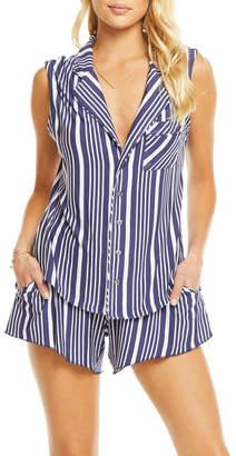 Chaser Cool Jersey Shirttail Pajama Top