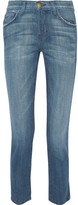 Current/Elliott The Vintage Cropped High-rise Straight-leg Jeans - Mid denim