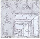 Topman Light Gray Floral Pocket Square