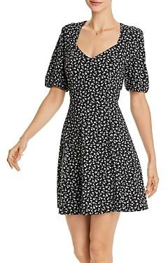 Aqua Ditsy Floral Print Dress - 100% Exclusive