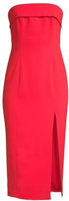 Jay Godfrey Kerr Strapless Front-Slit Dress