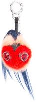 Fendi mini monster keychain with heart eyes - women - Mink Fur - One Size
