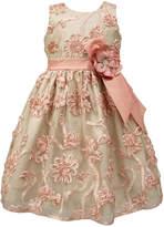 Sorbet Soutache-Over-Lace Dress, Size 7-12