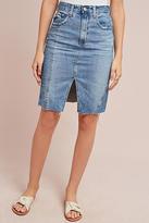 AG Jeans Split-Front Denim Skirt