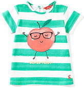 Joules Baby/Little Girls 12 Months-3T Striped Apple-Applique Tee
