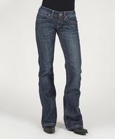 Stetson Blue Contrast Chain Back Pocket Straight-Leg Jeans - Women