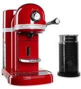 Nespresso by Kitchenaid® Espresso Maker Bundle with Aeroccino Frother in Empire Red