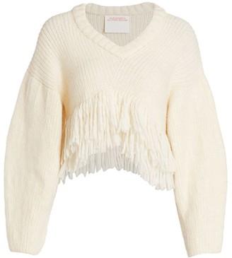Alejandra Alonso Rojas Fringe Crop Sweater