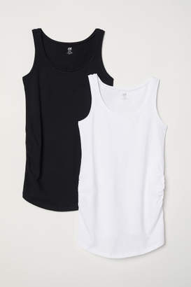 H&M MAMA 2-pack jersey vest tops