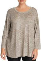 Nally & Millie Plus Long Sleeve High/Low Tunic