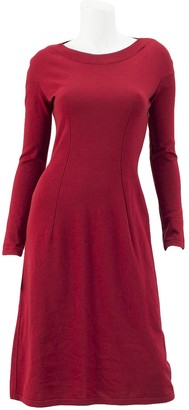 Alaia Red Wool Dress for Women Vintage