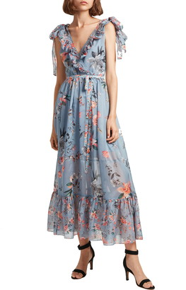 French Connection Cecile Floral Print Maxi Dress