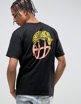 Huf T-shirt With Leopard Back Logo Print