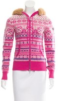 Bogner Fire & Ice Bogner Fur-Trimmed Zip-Up Sweater