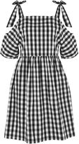 **Gingham Check Cold Shoulder Dress by Glamorous Petites
