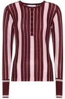 Gabriela Hearst Striped cashmere and silk top