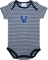 Creative Knitwear Villanova University Wildcats Striped Newborn Baby Bodysuit