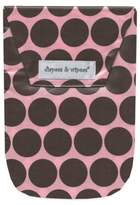 Diapees & Wipees Laminated Storage Bag with Wipes Case in Pink/Brown Polka Dot