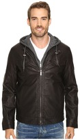 Perry Ellis Faux Leather Bomber
