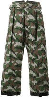 Sulvam - Camouflage cropped trousers - men - Cupro/Wool - S