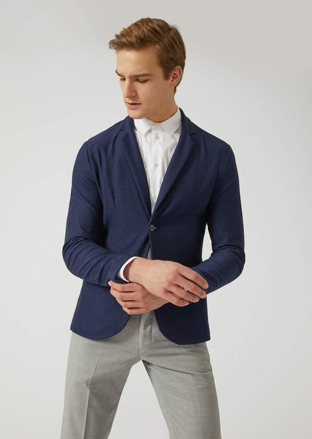 Emporio Armani Jacket In Stretch Jersey