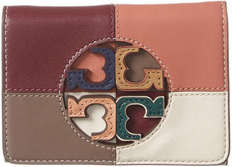 Tory Burch Miller Colorblocked Leather Wallet