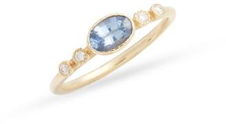 Jennie Kwon Designs Dew Ceylon Sapphire & Diamond Ring