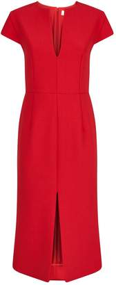 Victoria Beckham Fitted Midi Dress