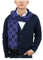 Versace It00629 Viola Purple 100% Wool Mens Scarf.