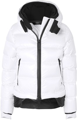 TEMPLA 10k Nano Gloss Quilted Shell Hooded Down Jacket