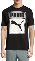 Puma Box Graphic Tee Short Sleeve Crew Neck T-Shirt