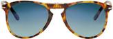 Persol Tortoiseshell Folding Pilot Sunglasses