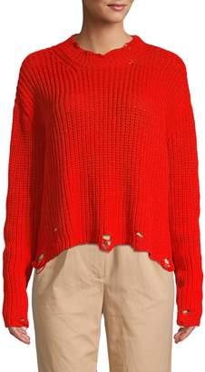 Lea & Viola Distressed Crewneck Sweater