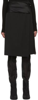 Helmut Lang Black Tuxedo Wrap Skirt