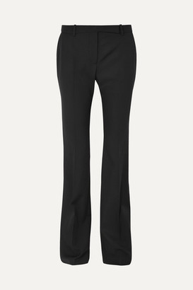 Alexander McQueen - Grain De Poudre Wool Flared Pants - Black