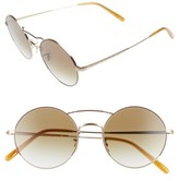 Oliver Peoples Women's Nickol 53Mm Round Sunglasses - Gold