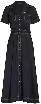 STAUD Millie Belted Maxi Dress
