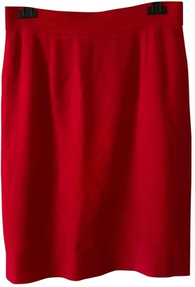 Moschino Cheap & Chic Moschino Cheap And Chic Red Wool Skirt for Women Vintage