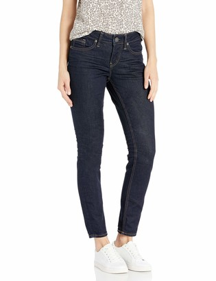 Silver Jeans Co. Women's Aiko Slightly Curvy Fit Mid Rise Skinny Jeans