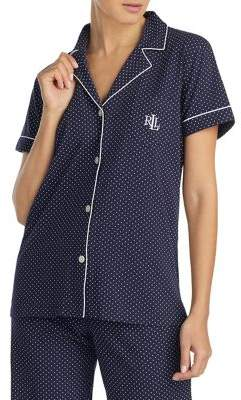 Lauren Ralph Lauren 2-Piece Short-Sleeve Cotton Bermuda Pajama Set