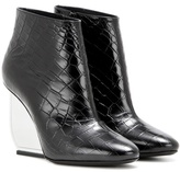Maison Margiela Embossed leather ankle boots