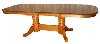 Red Barrel Studio Tyrell Solid Oak Solid Wood Dining Table Red Barrel Studio