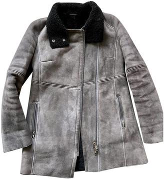 Comptoir des Cotonniers Grey Shearling Coats