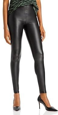 Aqua Faux Leather High Waist Leggings - 100% Exclusive